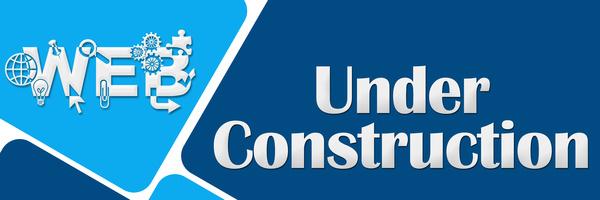 Web Under Construction Two Blue Colors Squares