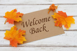 Welcome Back Card